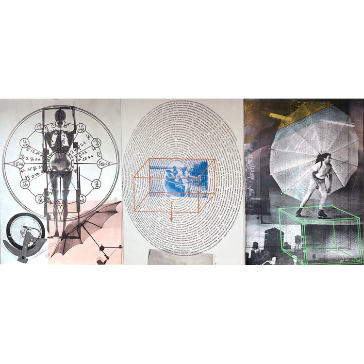 Robert Rauschenberg, American (1925-2008) 1968 Tryptic Photolithograph on paper