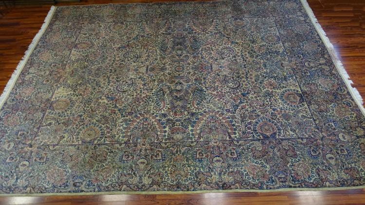 Semi Antique Palace Size Lavar Kerman Persian Carpet