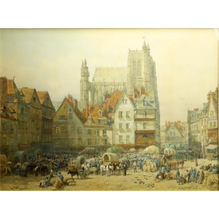 Samuel John Hodson, British (1836-1908) Watercolor on paper
