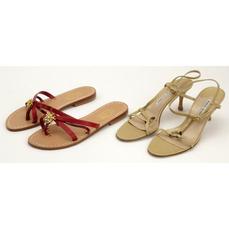Grouping of Two (2) Women's Designer Footwear