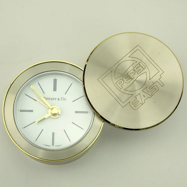Tiffany & Co Travel Alarm Clock with Swivel Cover