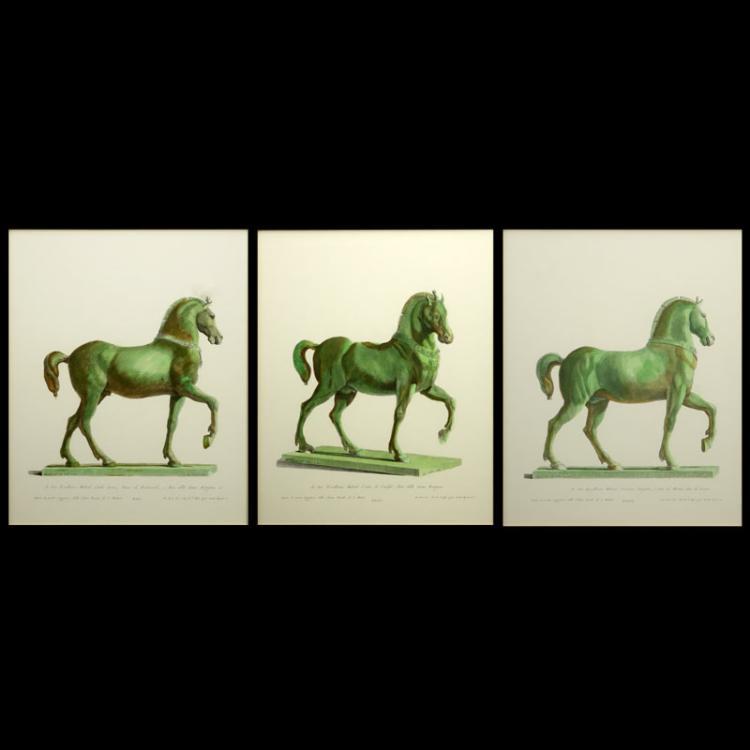 Lot of Three Modern Antonio Zanetti 1800 Statue Prints