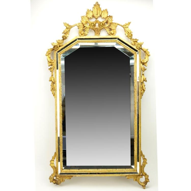 Modern Decorative Italian Giltwood Mirror