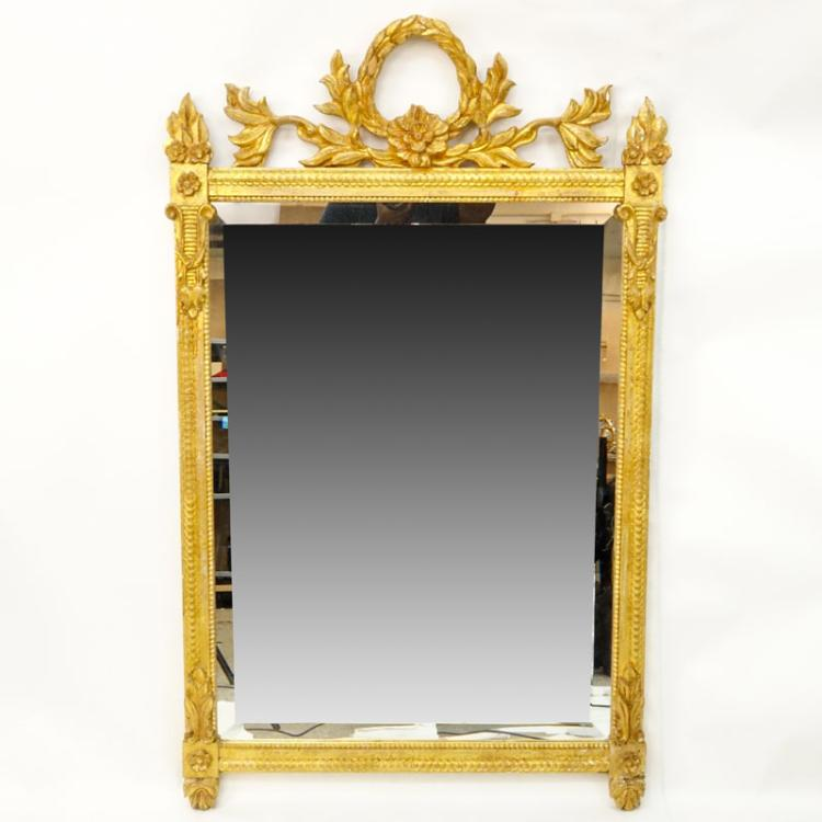 Large Decorative Giltwood Mirror