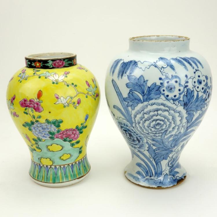 Grouping of Two (2) Antique to Vintage Porcelain Vases