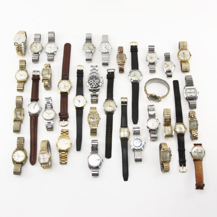 Large Collection of Assorted Vintage Watches