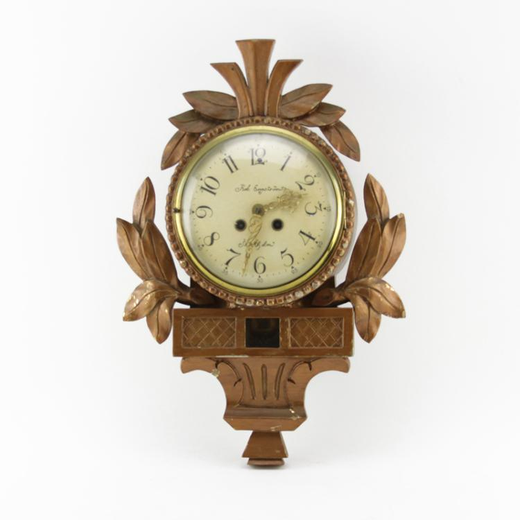 19/20th Century Rob Engstrom Swedish Giltwood Cartel Clock