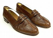 Man's Vintage Pair of Italian Gucci Snake Skin Loafers. Signed. Slightly Used Condition with trees. European Size 40-1/2 (US Size 7-1/2-8). Shipping $44.00