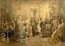 after: Vincente De Garcia Paredes, Spanish (1845- 1903) Hand Colored Lithograph