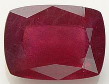 Approximately 12.07 Carat Modified Rectangular Cut Ruby. Unmounted. Ruby has Nice Vivid Saturation of Color. Shipping $26.00