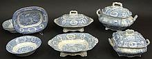 Eight (8) Pieces 19th Century English Ridgway Ironstone in the