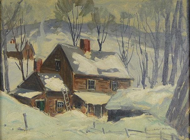Annabelle E. Williams American (worked 20th Century) Oil on Canvasboard