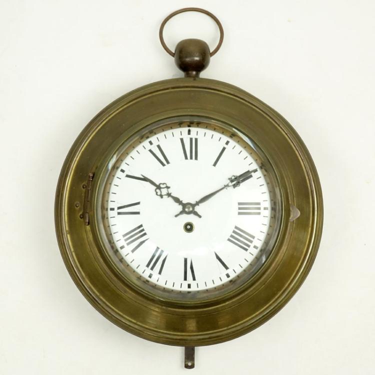 Large Vintage Metal Wall Clock