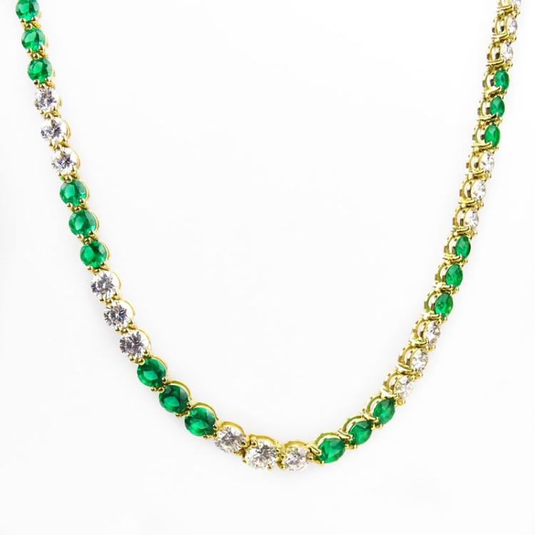 7b8054b54 Vintage Tiffany & Co Tennis Necklace.