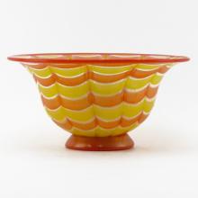 Mid Century Gambaro & Poggi Murano Art Glass Centerpiece Bowl