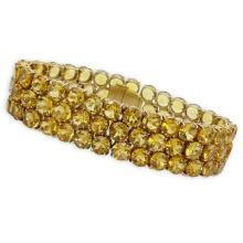 Retro Round Cut Citrine and 14 Karat Yellow Gold Bracelet