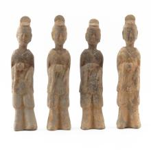 Four (4) Chinese Han Dynasty (206BC-220AD) Terracotta Tomb Figures