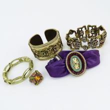 Grouping of Five (5) Heidi Daus Costume Jewelry Pieces