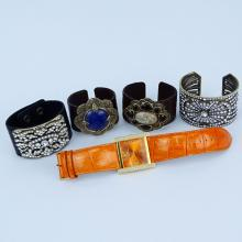 Grouping of Five (5) Vintage Costume Jewelry