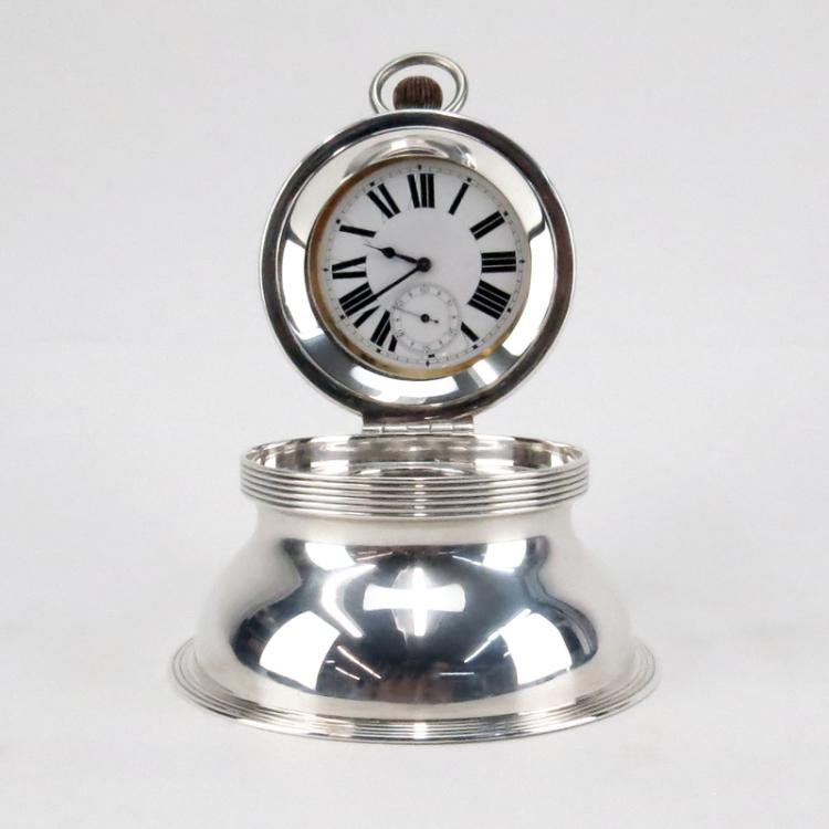 Antique J.C. Vickery London George V Style Sterling Silver Capstan Watch