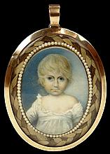 Early 19th Century English Double Side Hand Painted Portrait Miniature