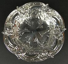 1932 Reed & Barton Sterling Silver Repoussé Bowl. Lovely Floral Motif. Signed with Reed & Barton Hallmark, STERLING, 277. Measures 9 Inches Diameter and Weighs 11.94 Troy Ounces. Domestic Shipping $52.00
