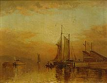 Charles Day Hunt, American (1840-1914) Oil on Canvas.