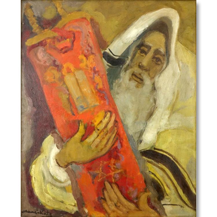 Mane katz american russian 1894 1962 oil on canvas rab for Katz fine art