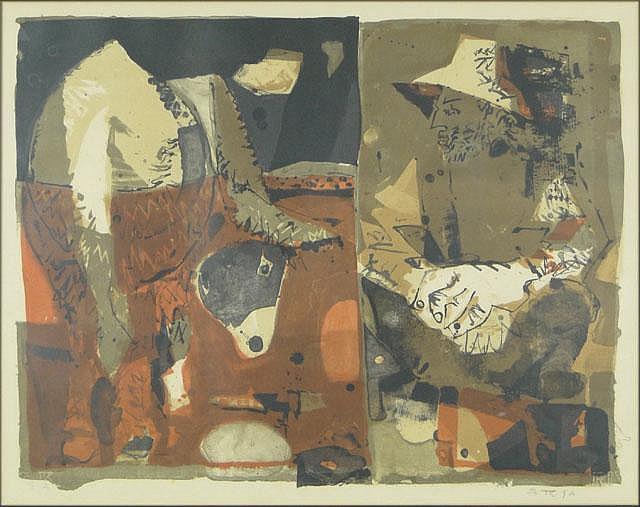 Godofredo Ortega Munoz Spanish (1905-1982) Color Lithograph,