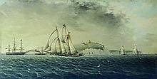 James Edward Buttersworth, American/British (1817-1894) Oil on board