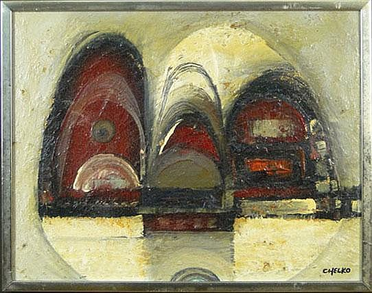 Paul Chelko (20th C) Acrylic on Board