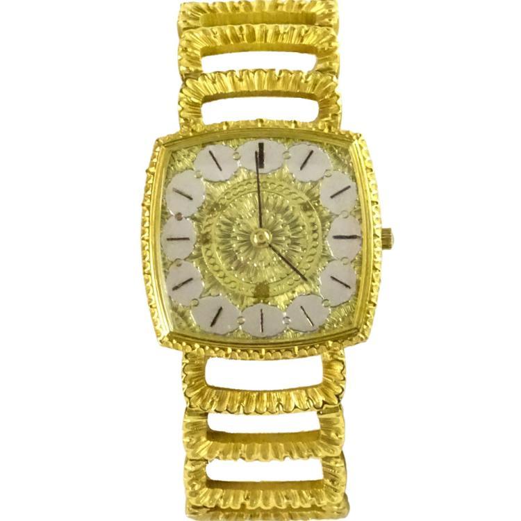 vintage buccelatti 18 karat yellow gold bracelet with