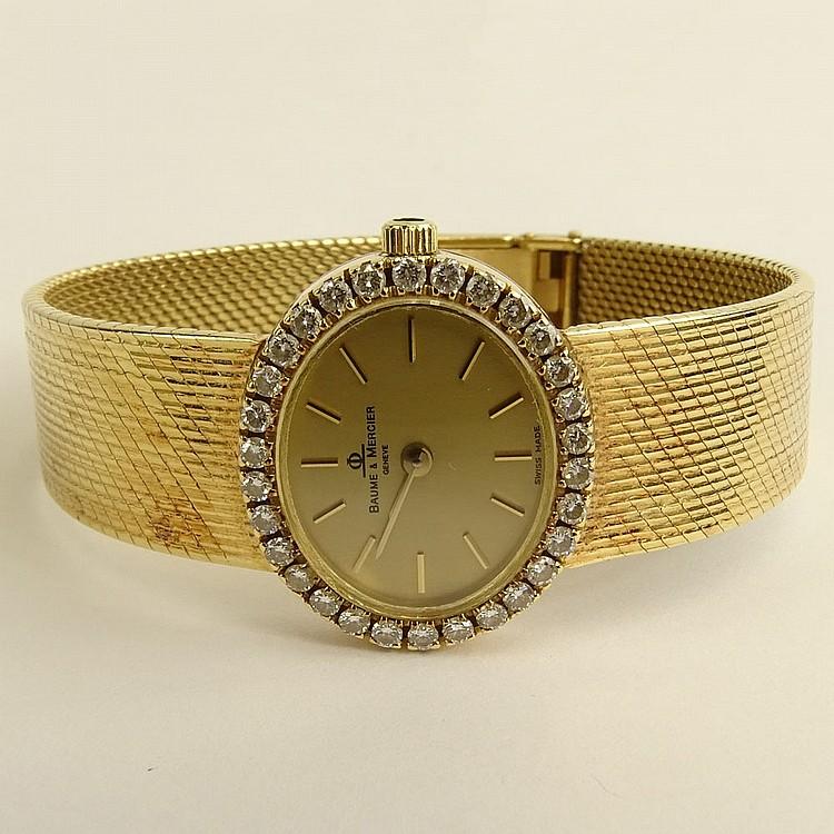 s vintage baume mercier 14 karat yellow gold bracelet