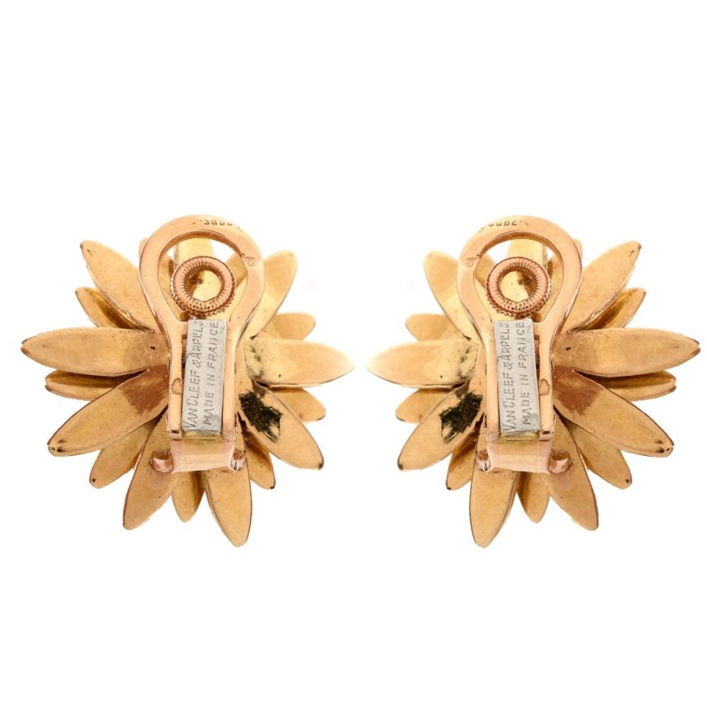 Lot 1: Vintage Van Cleef & Arpels 18K Earrings