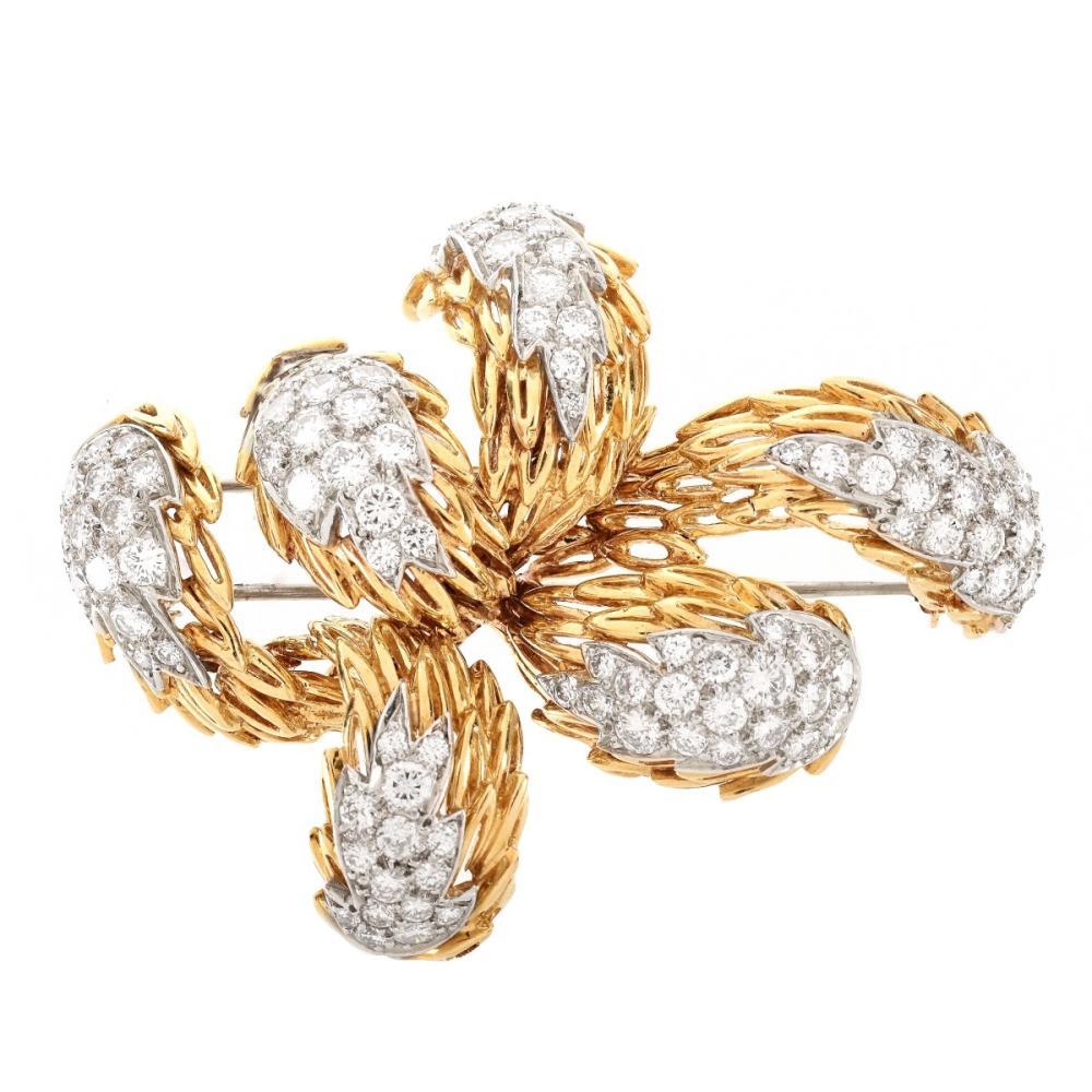 Vintage Tiffany Diamond and 18K Brooch