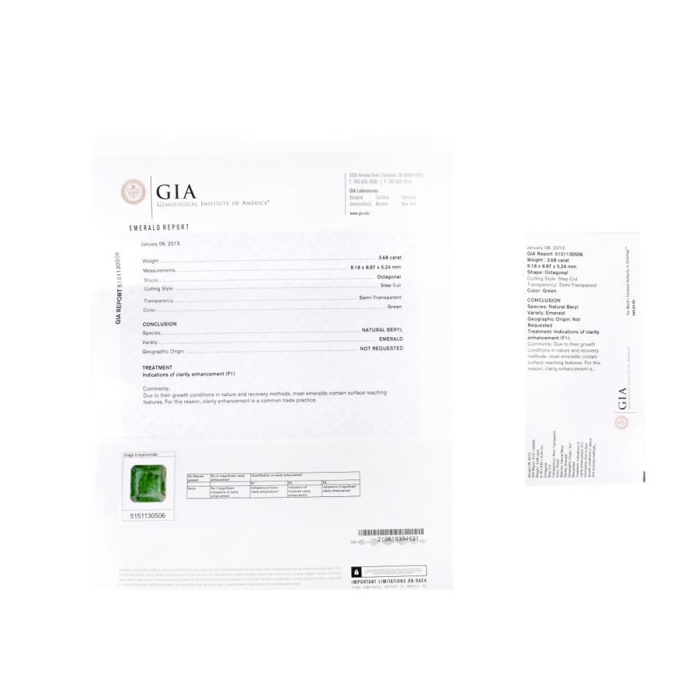 Lot 15: Three GIA Certified Emeralds