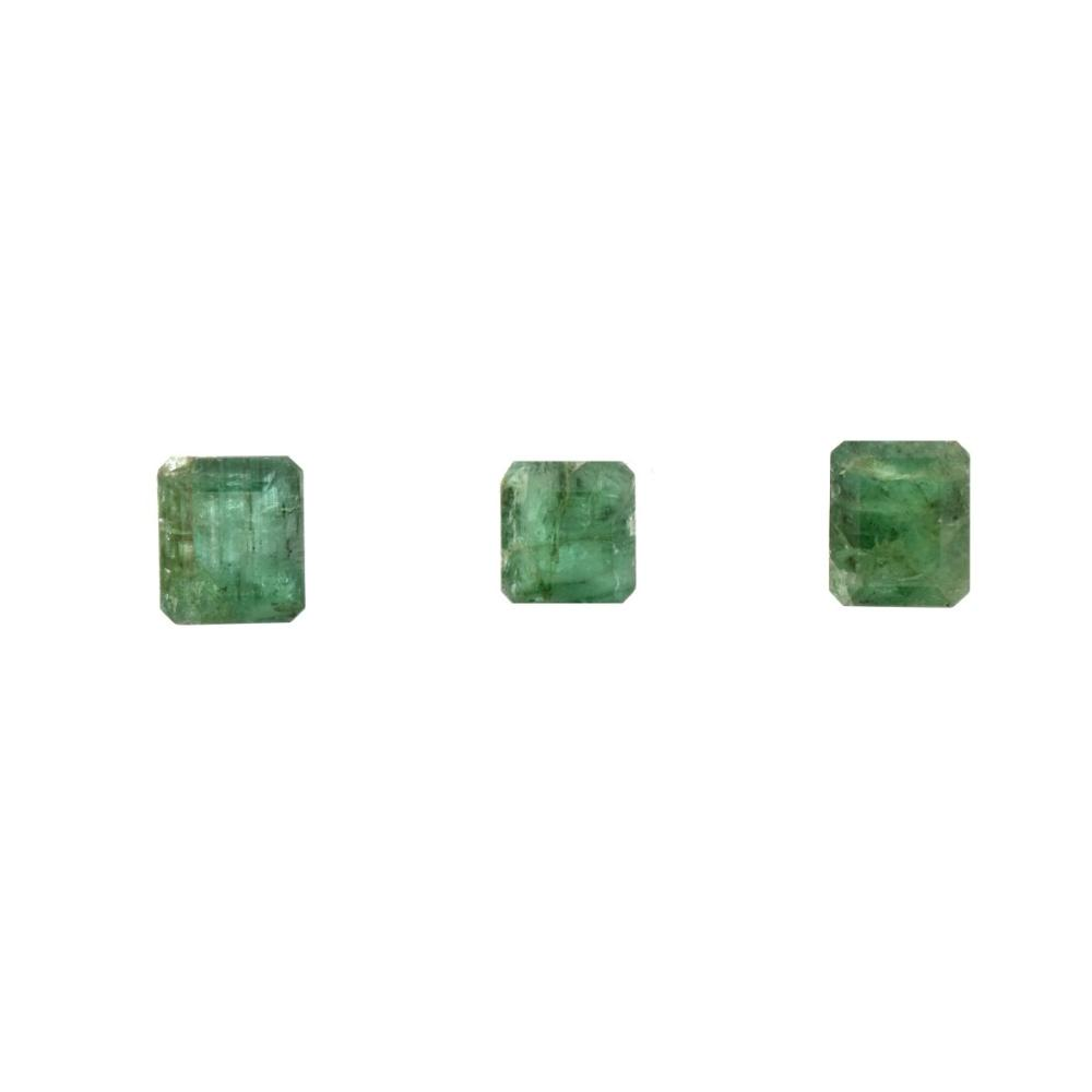 Three GIA Certified Emeralds