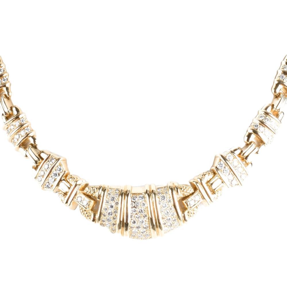 Judith Ripka Diamond and 18K Necklace