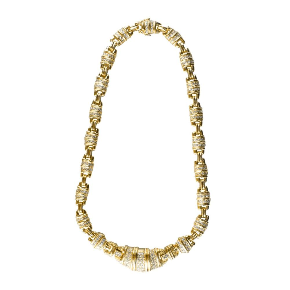 Lot 18: Judith Ripka Diamond and 18K Necklace