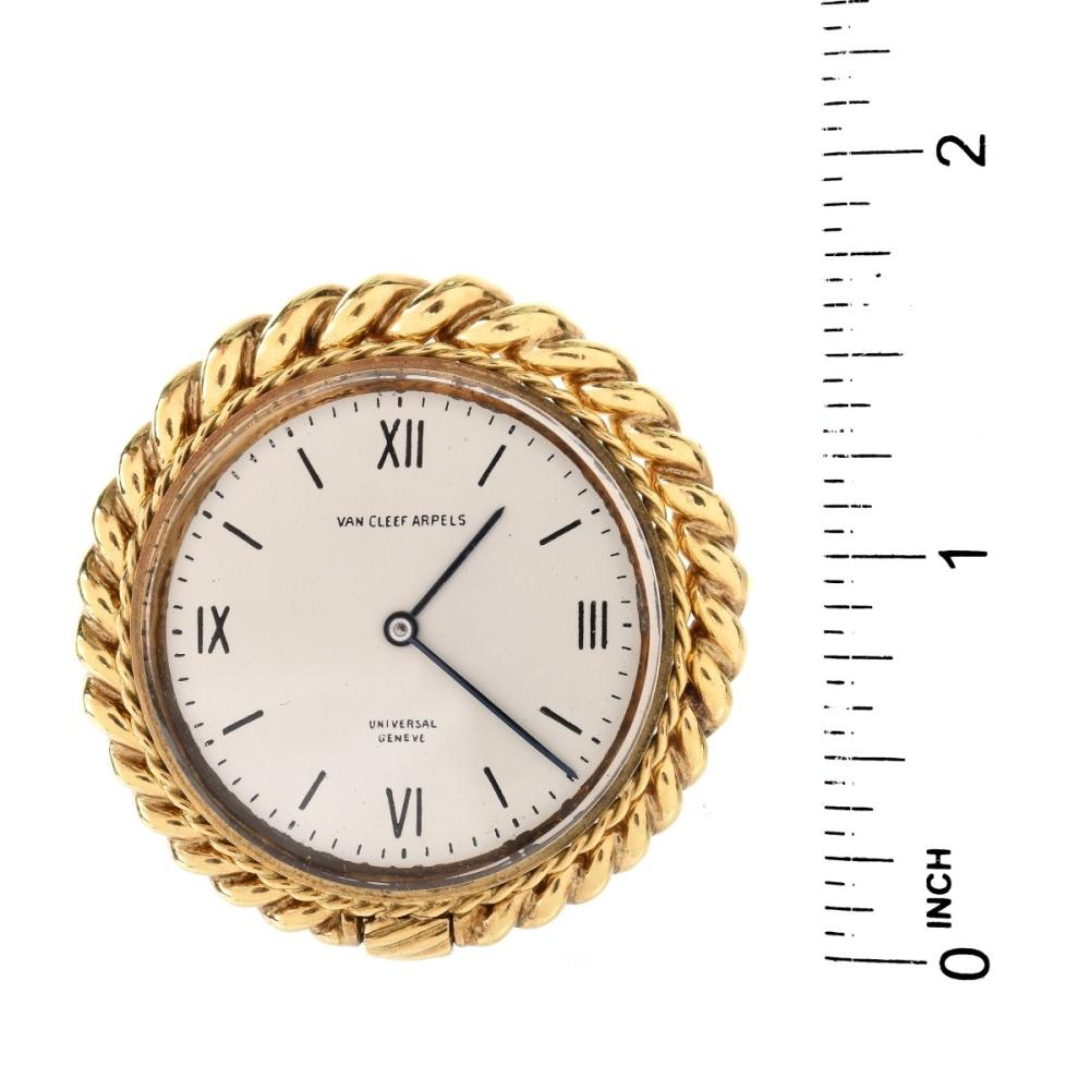 Lot 23: Vintage Van Cleef & Arpels 18K Clock