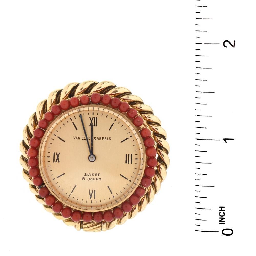 Lot 24: Vintage Van Cleef & Arpels 18K Clock