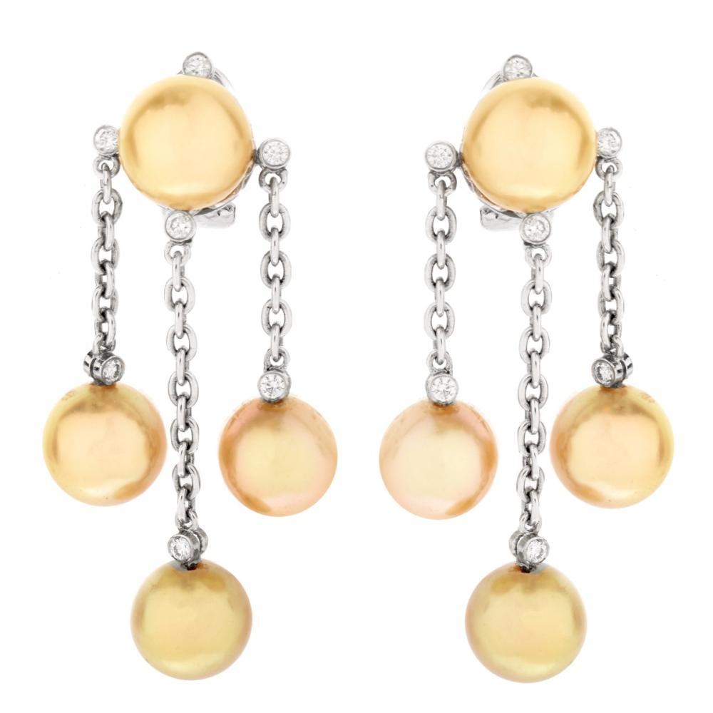 Pearl and 18K Earrings
