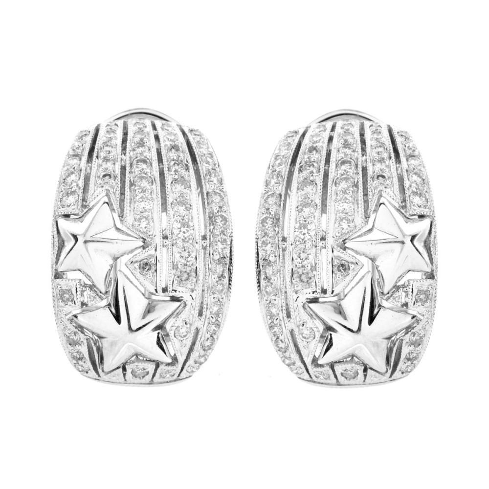 1.37ct TW Diamond and 18K Earrings
