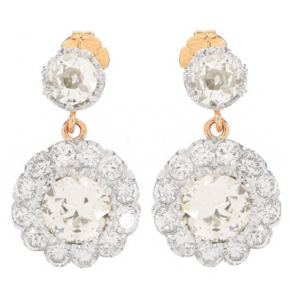 Approx. 8.35ct TW Diamond Pendant Earrings