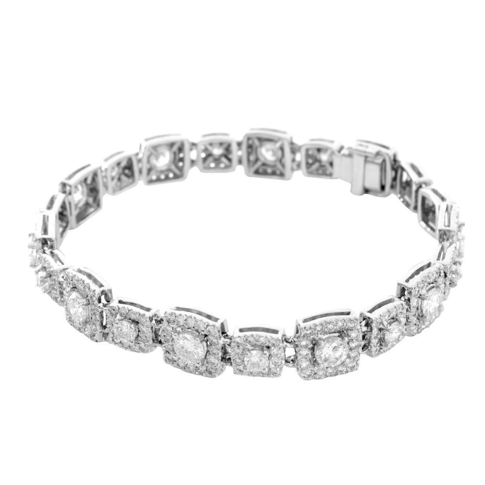 8.20ct TW Diamond and 18K Bracelet