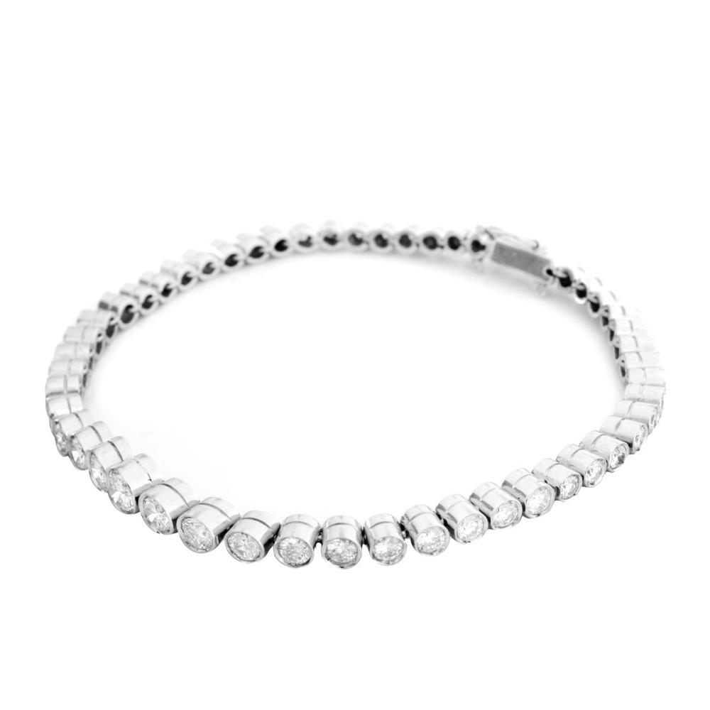 5.0ct TW Diamond and Platinum Bracelet
