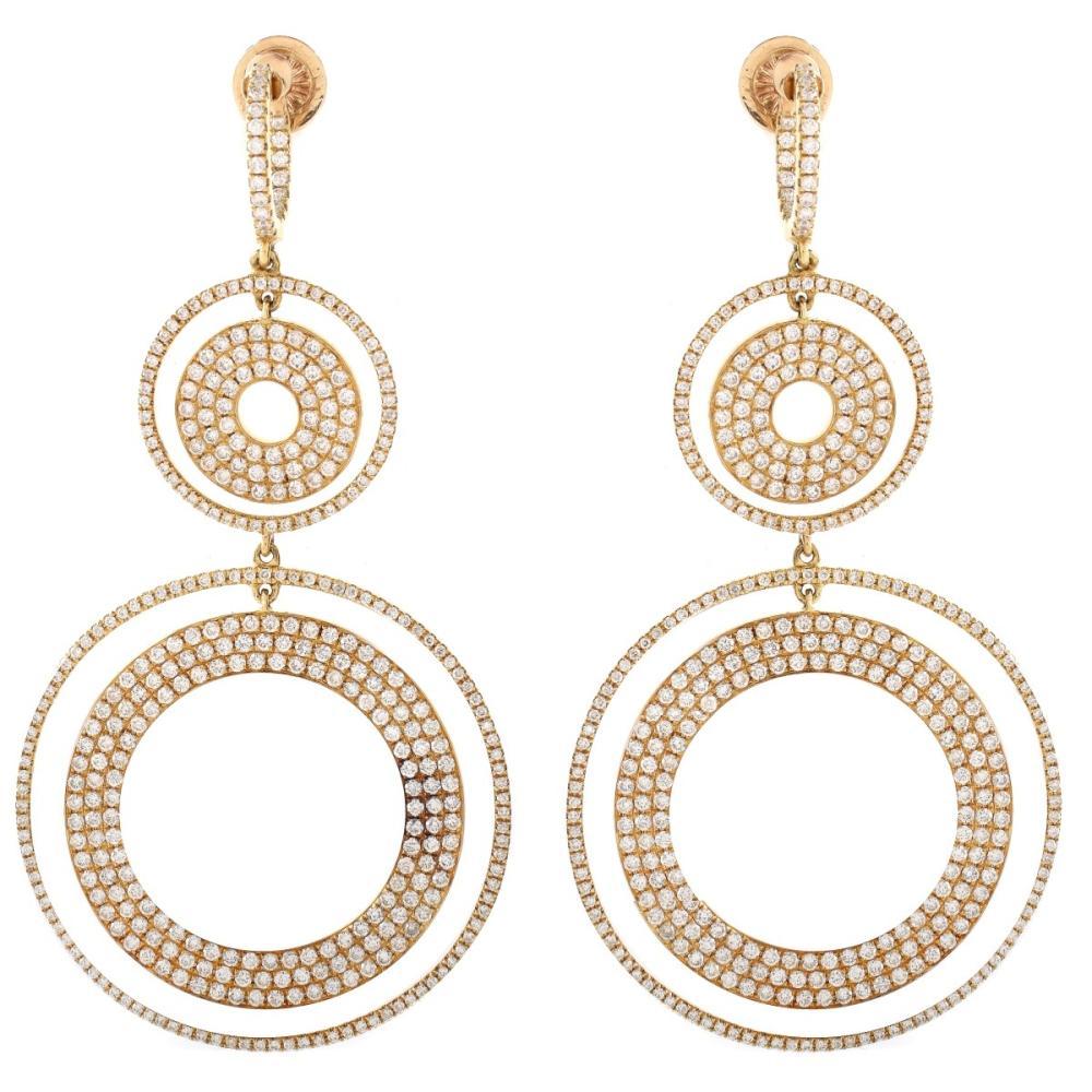 8.0ct TW Diamond and 18K Earrings