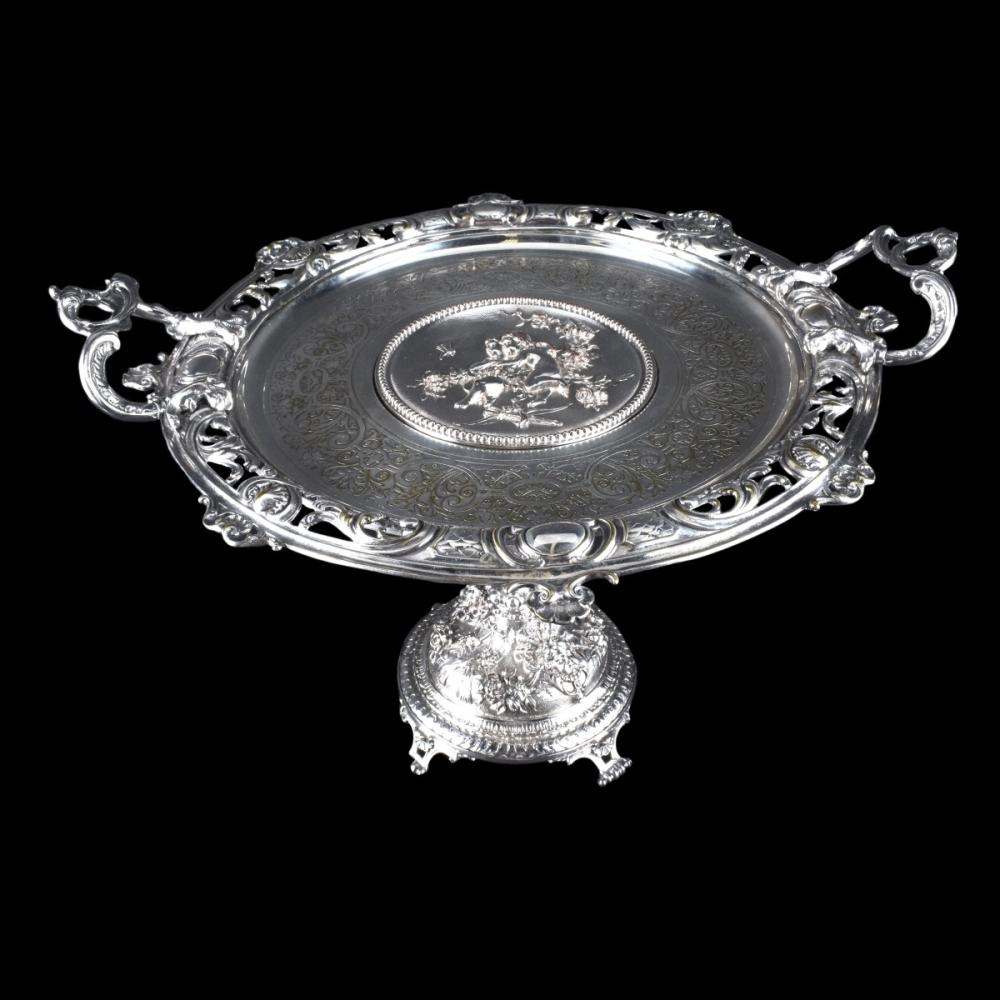 Antique French Silver Plate Centerpiece