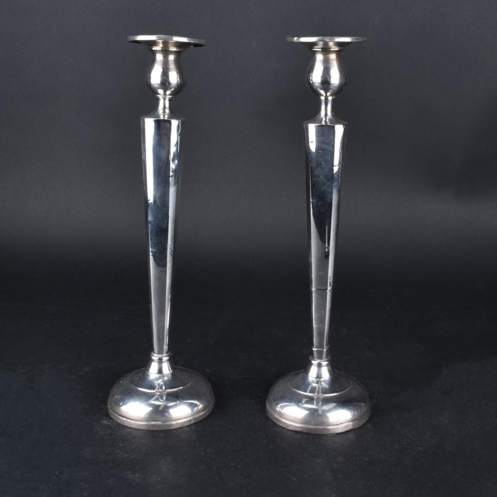 Pair Weighted Sterling Candlesticks