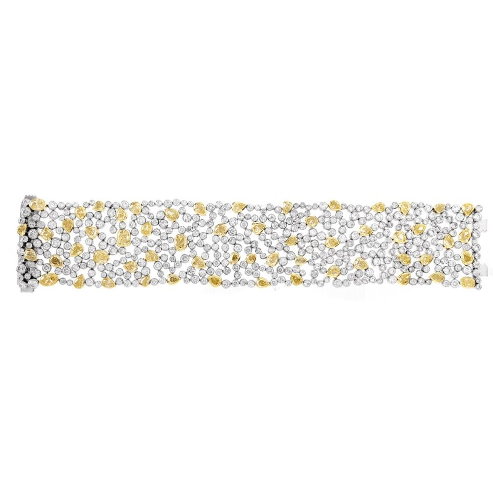 45.33ct TW Diamond and Platinum Bracelet